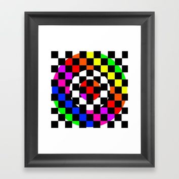 Triggle | Colorful Secret Geomoetry | Play Framed Art Print by Azima