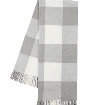 Buffalo Check Throw | Light Gray