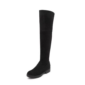 Faux Suede Over the Knee Boots Winter Shoes for Woman 2943