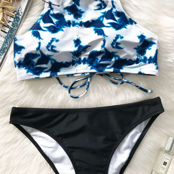 Cupshe Dim Moonlight Tank Bikini Sets