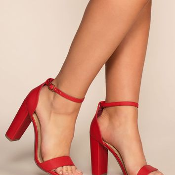 Steal Your Attention Heels - Red