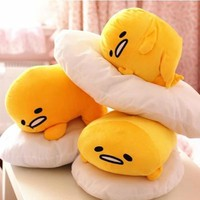 1pc 40*30cm Gudetama lazy egg Eggs jun Egg yolk brother large doll pillow lazy balls stuffed toy for christmas gift