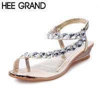 Woman Sandals Flat with Flip Flop Rhinestone Summer Style Shoes Woman