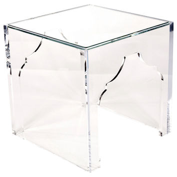 "Marrakesh 24"" Side Table, Clear, Acrylic / Lucite, Standard Side Tables"