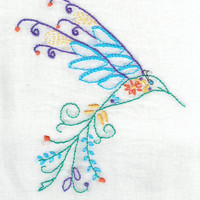Hummingbird, Hummingbird art, Kitchen towel, flour sack, flour sack towels
