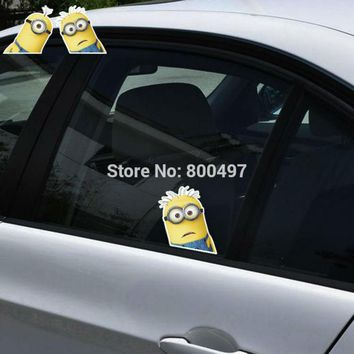 Newest Minions Despicable Me Stuart Mark Stickers Car Decal for Toyota  Chevrolet Volkswagen Tesla  Kia Lada