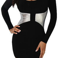Jester (Black/Silver)-Great Glam is the web's best online shop for trendy club styles, fashionable party dresses and dress wear, super hot clubbing clothing, stylish going out shirts, partying clothes, super cute and sexy club fashions, halter and tube to