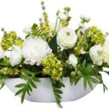 Mixed White Centerpiece In White Bowl