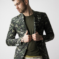 Floral Blazer Birch Leaves by James Calehan - DIFFERIO