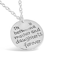 Rosa Vila The Love Between Mother And Daughter Is Forever Pendant Necklace For Women