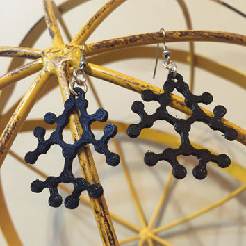 Polymer Earrings - Molecule Jewelry - Science Jewelry - Science Earrings - Biology Earrings - Polymer Jewelry - Geometric Earrings - STEM