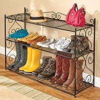 3-Tier Shoe & Accessory Storage Rack