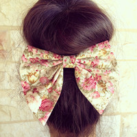 floral Unique BIG hair bow