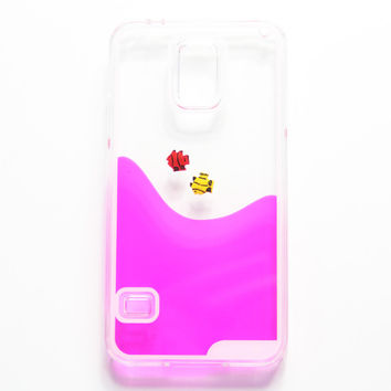 Pink Swimming Water Fish  Samsung Galaxy S6 Edge S6 S5 Case - Free Shipping