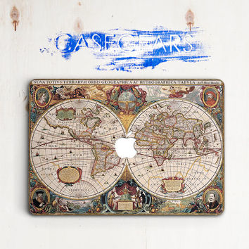 World Map Ancient Macbook Air 11 13 15 Pro Laptop Laptop Vintage Macbook Macbook Pro Cover Apple Mac Case Macbook  Macbook air cover