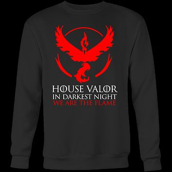 Pokemon house valor in darkness night we are the flame Sweatshirt  T Shirt - TL00628SW