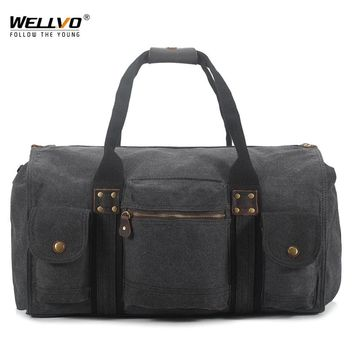 Large Canvas Handbag Men Travel Duffle Shoulder Bags For Men's Crossbody Luggage Tote Bag Portable Package Large Capacity XA01WC