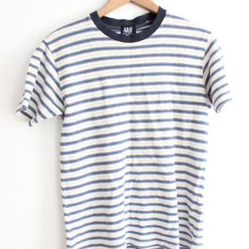 Striped 90s Ringer T Shirt