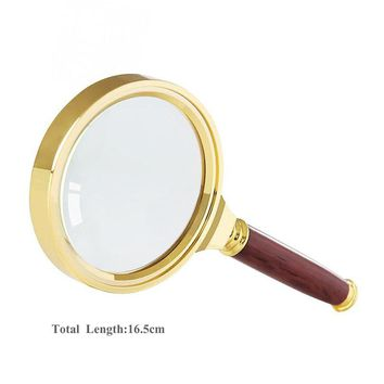 Drop shipping 80mm Handheld 5X Magnifier Magnifying Glass Lens Loupe Reading Jewelry