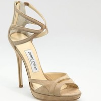 Jimmy Choo - Suede Strappy Sandals - Saks.com