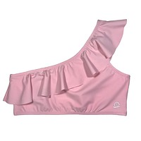 Women's UPF 50+ Sun Protection One-Should Bikini Top UPF 50+ | Pink