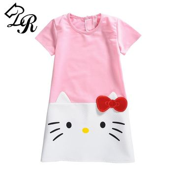 HOT 2018  Baby Girls Dresses Hello Kitty Brand Children Dresses for Girls Princess Dress Christmas Kids Girl Clothes