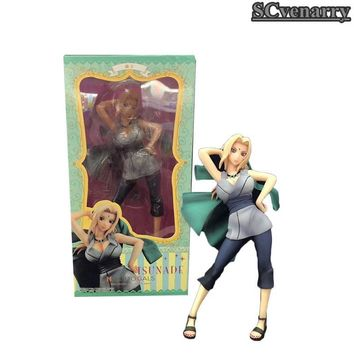 Naruto Sasauke ninja  Action Figure Tsunade Anime Model Cartoon Doll PVC Japanese Figurine for Collection 21cm AT_81_8