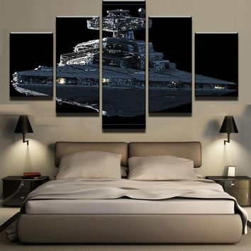 Star Wars Imperial Battleship Star Destroyer Wall Decor Canvas Picture Art