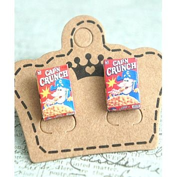captain crunch cereals earrings