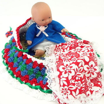 cradle purse crochet little girl baby doll purse 21