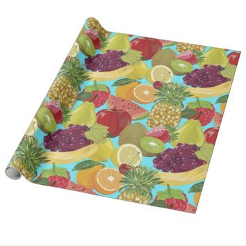 Fresh Fruit Pattern Wrapping Paper