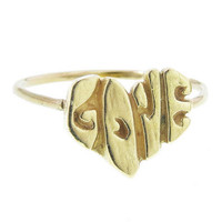 Elisa Solomon: LOVE Heart Ring - Yellow Gold - YLANG 23 - Ylang 23