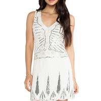 TFNC London Stacey Embellished Mini in White & Silver from REVOLVEclothing.com