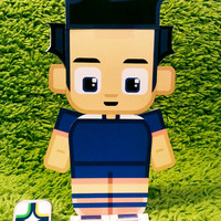 Japan football soccer craft activity. Printable paper toy. Instant download. Make you own cards, banners and football soccer bunting!
