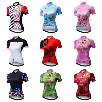 Cycling Jersey women Bike Jersey 2018 road MTB bicycle Clothes Outdoor Mountain team maillot Racing top Shirt Ropa Ciclismo red