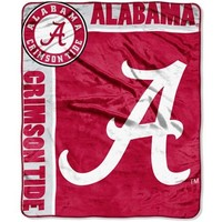 Alabama Crimson Tide 50'' x 60'' Crimson-White Team Spirit Royal Plush Blanket Throw