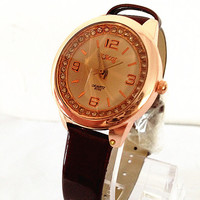 Womens Leather Band Watch