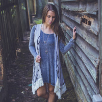 Mineral Wash Dress in Blue
