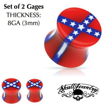 8mm Rebel Flag Gages (e501)