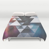 wyy tww gryy Duvet Cover by Spires