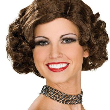 All That Jazz Flapper Wig, Brunette 1920's One Size