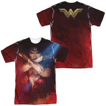 Wonder Woman Movie Arms Crossed Sublimated Mens T-Shirt