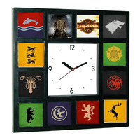Game Of Thrones symbols Clock with 12 images