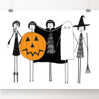 A Flapper Halloween art print