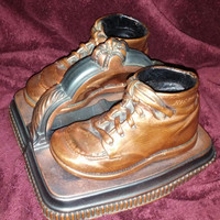 A Unique and Adorable Set of Two Preserved Bronzed Baby / Toddler Shoe  Bookends