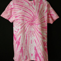 Hand Dyed Pink Tie Dye Shirt (BREAST CANCER AWARENESS)  | Hanes or Gildan | Youth or Adult