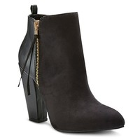 Women's Avie Zip Up Heeled Booties - Mossimo™