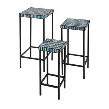 Cordelia Glass Mosaic Tables (Set of 3) | Overstock.com Shopping - The Best Deals on Coffee, Sofa & End Tables