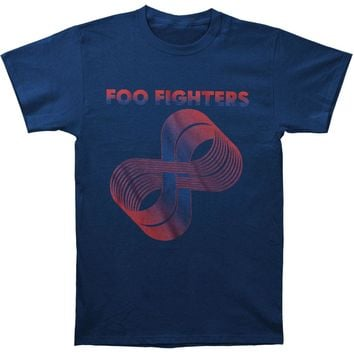Foo Fighters Men's  Loops Logo Slim Fit T-shirt Navy