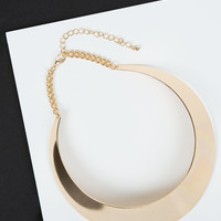 Bold and Gold Collar Necklace